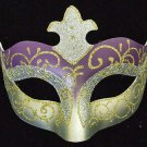 Venetian Halloween Party Eye Mask Samba Purple Silver