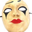 Venetian Full Mask Harlequin Black Tears Masquerade Drama Ball Costume Party