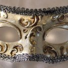 Eye Mask Antique Cracked Silver Mask Costume Prom Mardi Gras New Orleans