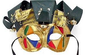 Jolly Jester Venetian Mask YOUR CHOICE MULTI COLORS Mardi Gras Halloween