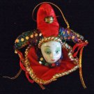 Porcelain Jester Lady Hat Bells Ornament YOUR CHOICE STYLE Mardi Gras Orleans