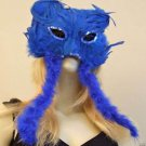 Cat Mask Feather Cat Scratch Your Color Choice Mardi Gras Halloween New Orleans