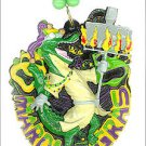FLAMBEAUX Flame Alligator Gator Mardi Gras Beads Parade New Orleans Party