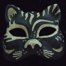 Cat Mask Ebony Your Color Choice Mardi Gras New Orleans Halloween Costume Prom