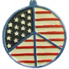 American Flag Peace Sign Necklace New Orleans Mardi Gras Spring Break Cajun