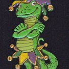 Jester Gecko New Orleans Mardi Gras Beads Carnival Parade Party Bourbon Street