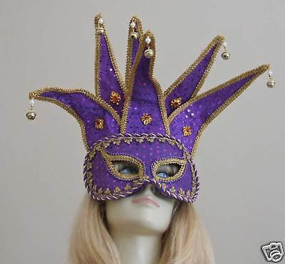 HALLOWEEN  Mask Masquerade Large  Costume PURPLE