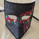 Venetian Mask Bauta Harlequin 1 Mardi Gras Halloween Costume Party Italy Drama