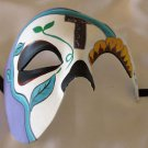Day of the Dead Mask Gold Eye Half Face Halloween Mardi Gras Costume Party Prom