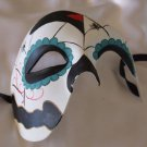Day of the Dead Mask Spider Web Half Face Halloween Mardi Gras Costume Party
