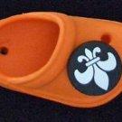 Crocs Fleur de Lis Mardi Gras Bead Necklace YOUR CHOICE New Orleans Beads