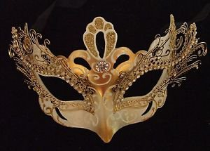 Venetian Eye Mask YOUR CHOICE COLOR Mardi Gras Costume New Orleans Party
