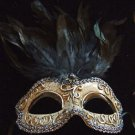 Greco Mask Jewel Feathers Your Choice Colors Halloween Mardi Gras Costume Party