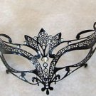 Black Metal Mask Crown Top Laser Cut Halloween Mardi Gras Costume Prom  Party