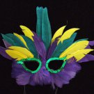 Dumaine HALLOWEEN Ball Masquerade Party Feather Mask New Orleans Mardi Gras