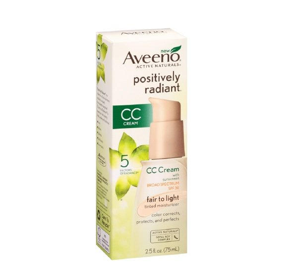 Aveeno Positively Radiant CC Cream SPF30 Fair to Light Moisturiser (2.5fl oz/ 75ml)