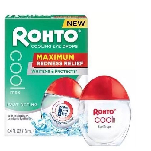 Rohto Cooling Eye Drops Maximum Redness Relief 0.4 fl oz (13 ml)