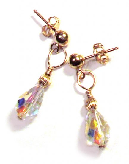 Swarovski Crystal Drop Earrings with Gold - E208