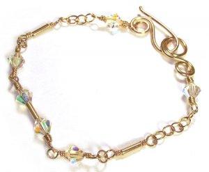 Swarovski Crystal Bracelet with Gold - B161