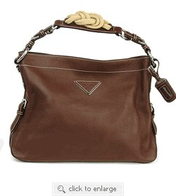 Prada Handbag BR3464 Brown Leather