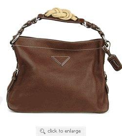 Prada Handbag BR3464 Brown Leather