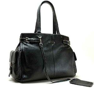Prada Handbag BR2703 Black Leather