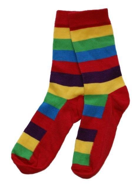 LITTLE SUNFLOWERS 1 x Pair of Rainbow Striped Socks