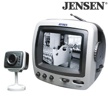 """5.5"""" TELEVISION/MONITOR WITH SECURITY CAMERA"""