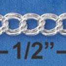 """Sterling Silver 7"""" 5mm Charm link Bracelet"""