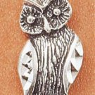 Sterling Silver Antiqued Owl Charm