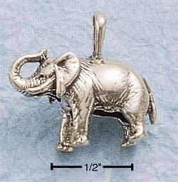 Sterling Silver Antiqued Elephant Pendant