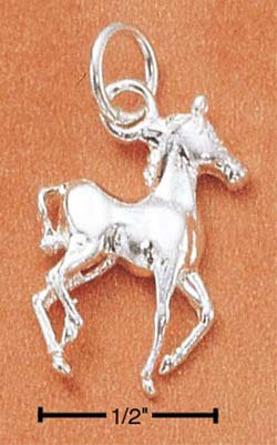 Adorable Sterling Silver Small Prancing Horse Charm