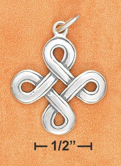 Beautiful Sterling Silver Irish Celtic Endless Knot Pendant