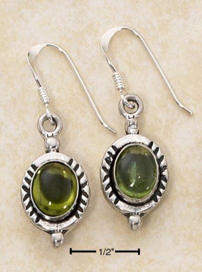 Sterling Silver green genuine Peridot Earrings