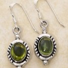 Sterling Silver green genuine Peridot Earrings