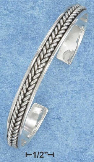 Sterling Silver Double Twist Cuff Bracelet