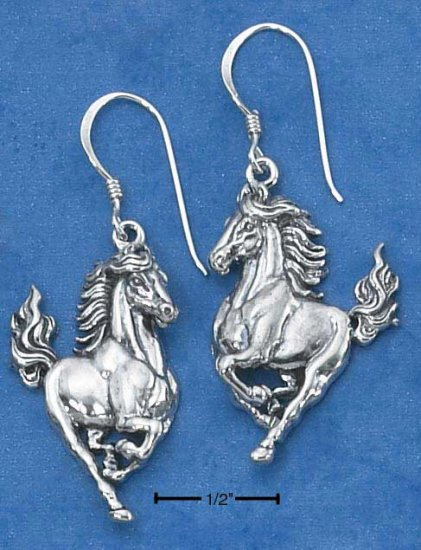 Beautiful Antiqued Sterling Silver Horses earrings