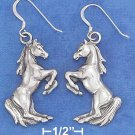 Sterling Silver Rearing Horses earrings