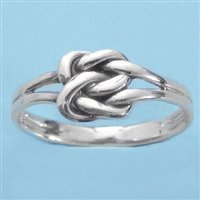 Sterling Silver Celtic Love Knot Ring Size 5