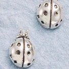 Cute Sterling Silver Ladybug Post Earrings