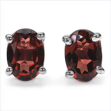 Sterling silver Garnet post earrings