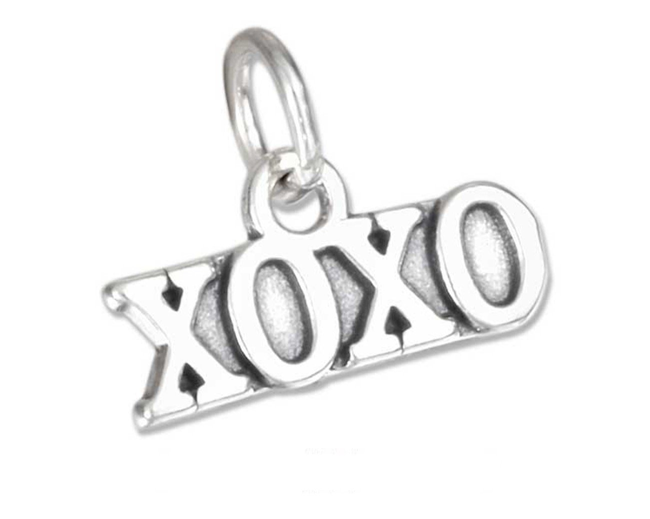 Cute Sterling Silver XOXO Charm