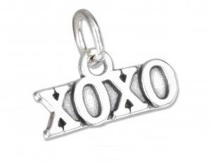 Cute Sterling Silver XOXO Charm