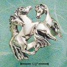 Sterling Silver Triple Horse Ring Size 6