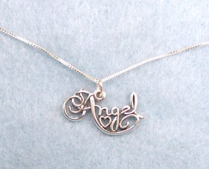 Cute Sterling silver Angel Charm