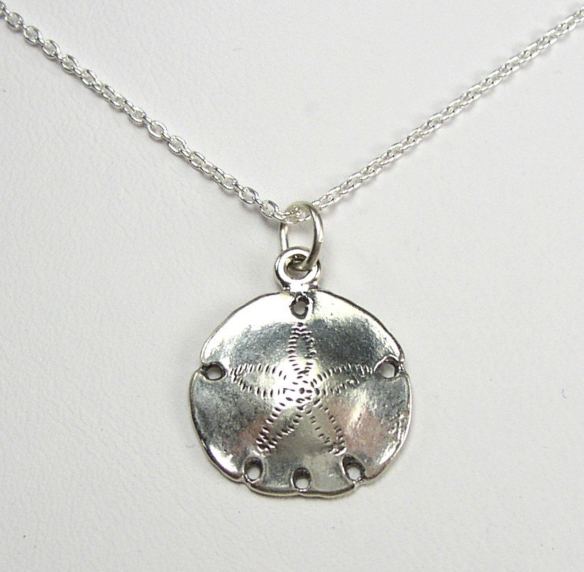 """Sterling Silver Sand Dollar charm and 18"""" chain"""