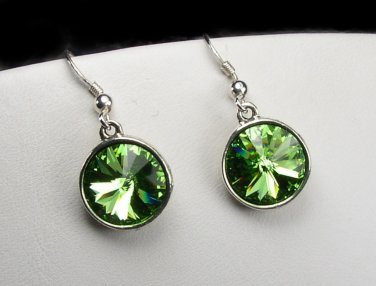 Sparkling Swarovski Peridot crystal earrings - the August birthstone