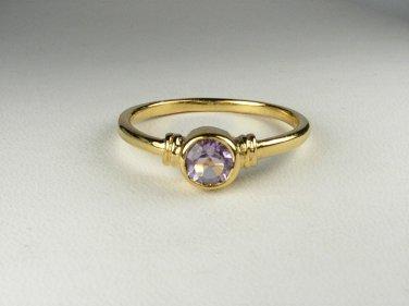 18K Gold Vermeil Genuine Amethyst Ring size 7
