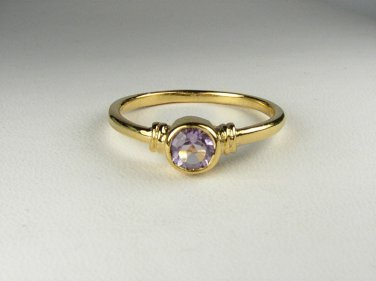 18K Gold Vermeil Genuine Amethyst Ring size 9