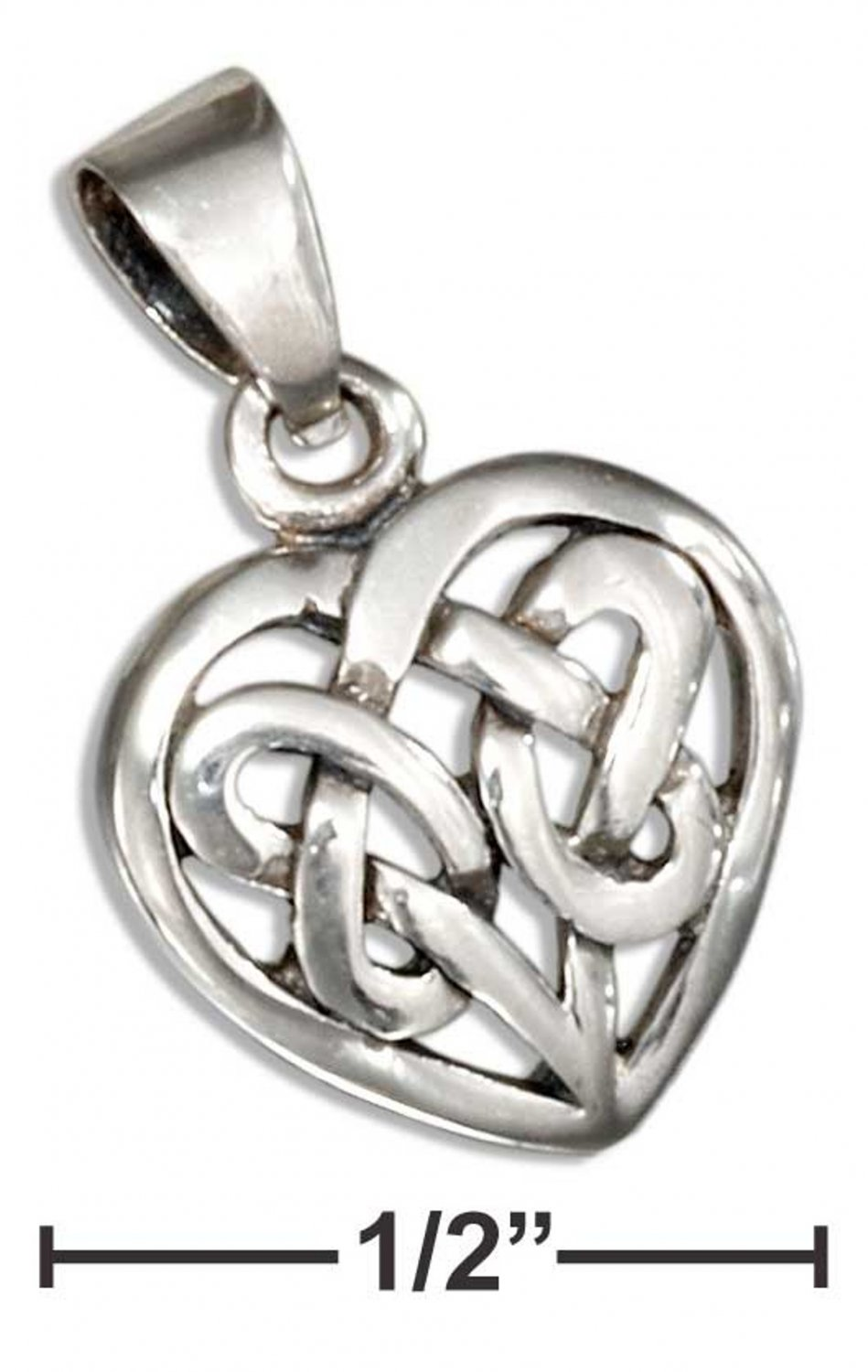 Sterling Silver Heart pendant with a Celtic knot design